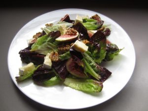 fig and walnut salad